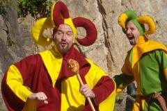 farces de ménestrels lors d'un spectacle médiéval