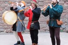 ménestrels et leurs instruments à vent du Moyen-Age