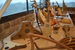 exposition d'instruments de musique médiévale