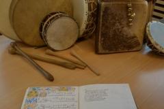 manuscrit de musique du Moyen-Age