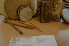 music manuscript from the Middle-Ages