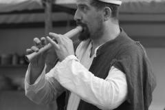 ménestrel et sa flûte