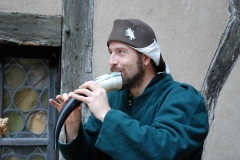 ménestrel et son gemshorn