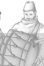 dessin d'enfant représentant l'ensemble médiéval Hauvoy